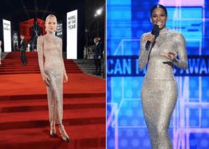 Caroline Daur And Ciara Both Wear Alessandra Rich Crystal Net Dress — Who Wore It Best?