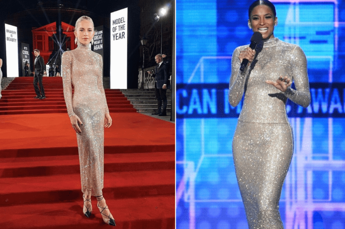 Caroline Daur And Ciara Both Wear Alessandra Rich Crystal Net Dress — Who Wore It Best?