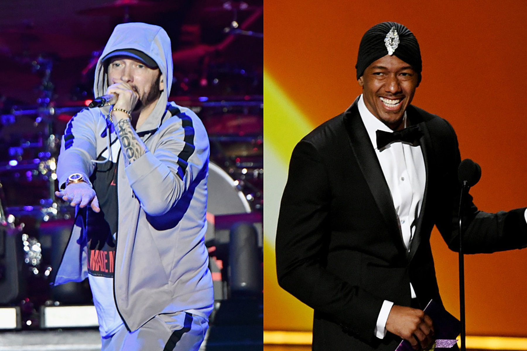 Eminem Nick Cannon Mariah Carey