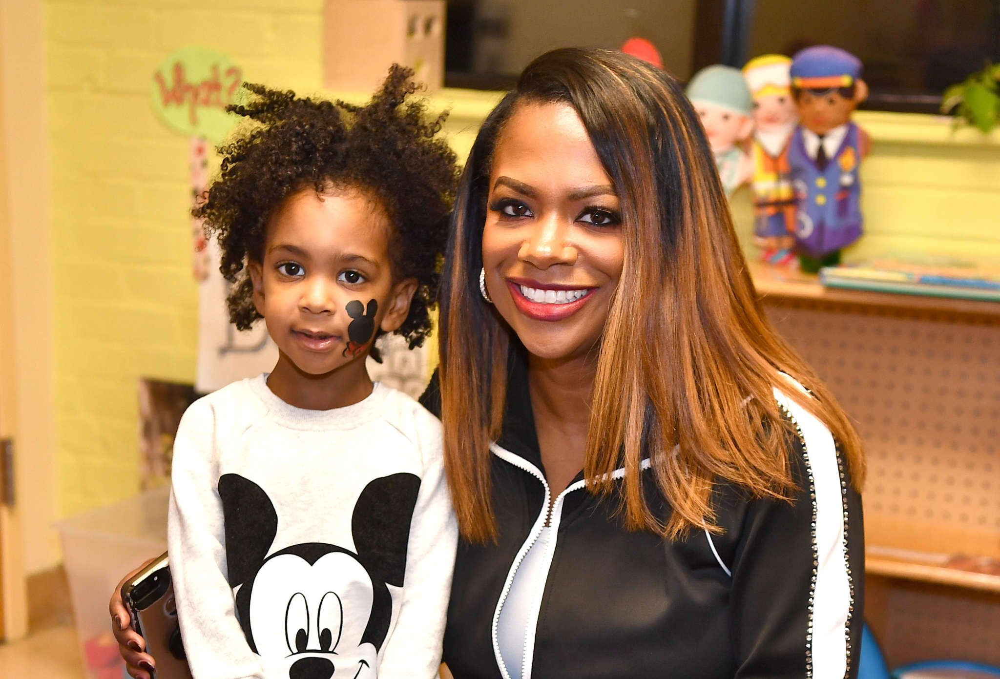 Kandi Burruss Had Her Son, Ace Wells Tucker In The Studio Recording - See The Sweet Pics
