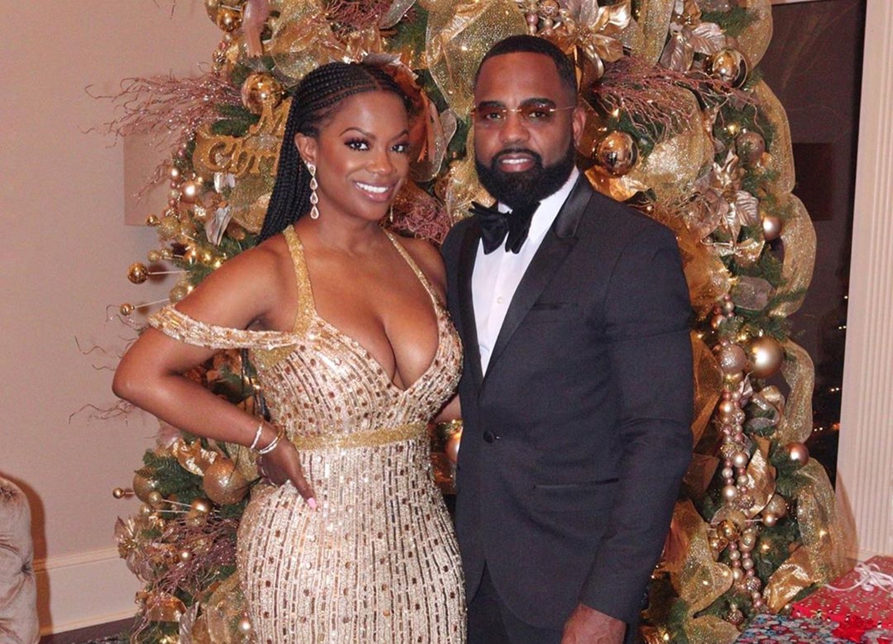 Kandi Burruss Shows Off Massive Cleavage In A Photo With Todd Tucker