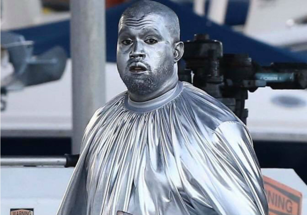 Kanye West Paints Himself Silver For His Opera Debut In Miami