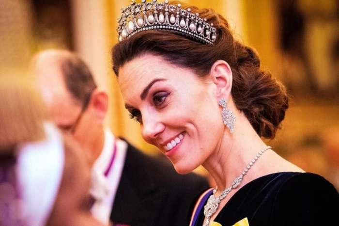 Kate Middleton Wears Princess Diana's Lover's Knot Tiara With Alexander McQueen Velvet Dress