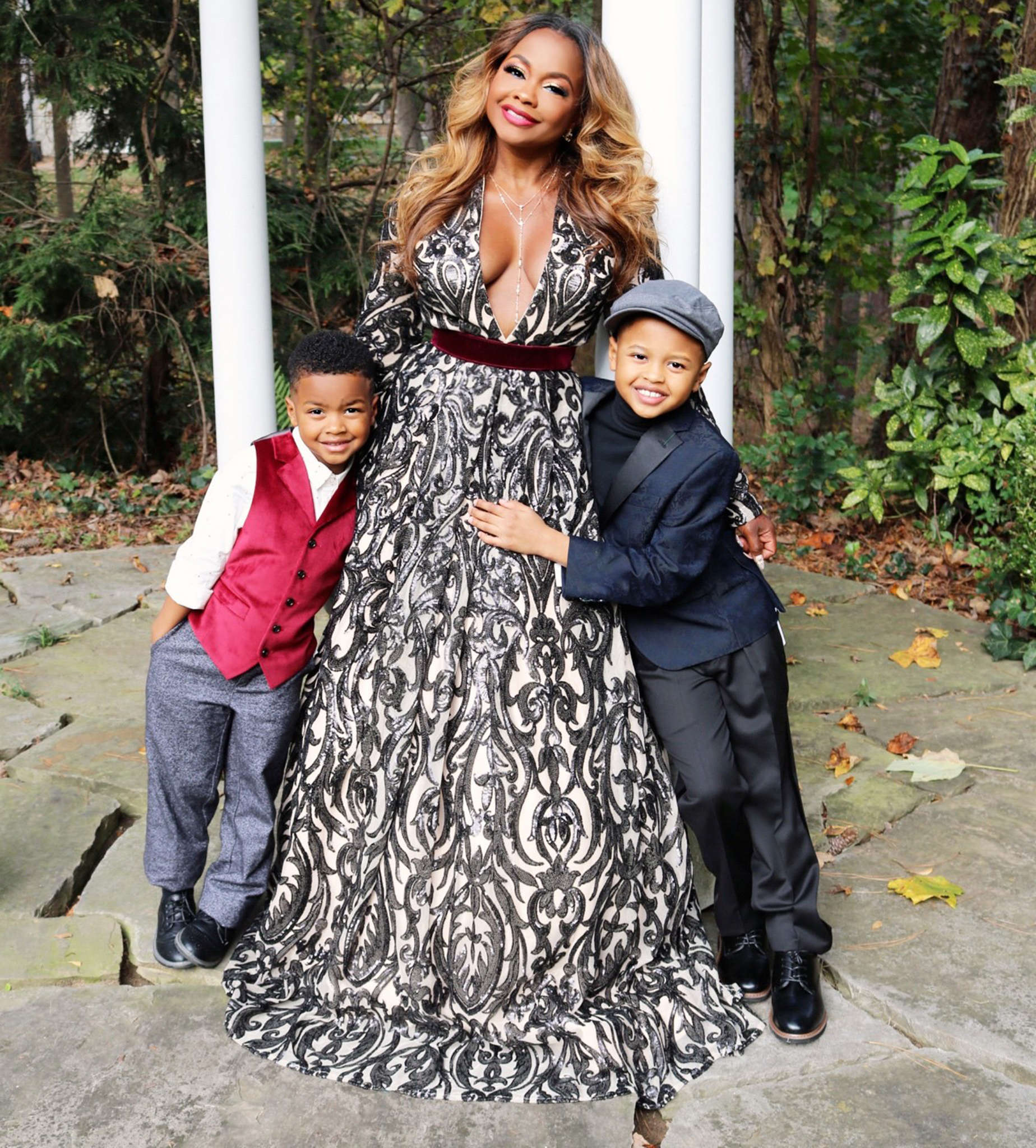 Phaedra Parks Looks Gorgeous In A Red Gown For Christmas - See The Photo Here