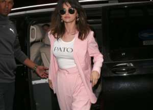 Selena Gomez Is Chic In Pink Patou Suit — See The Stylish Photos