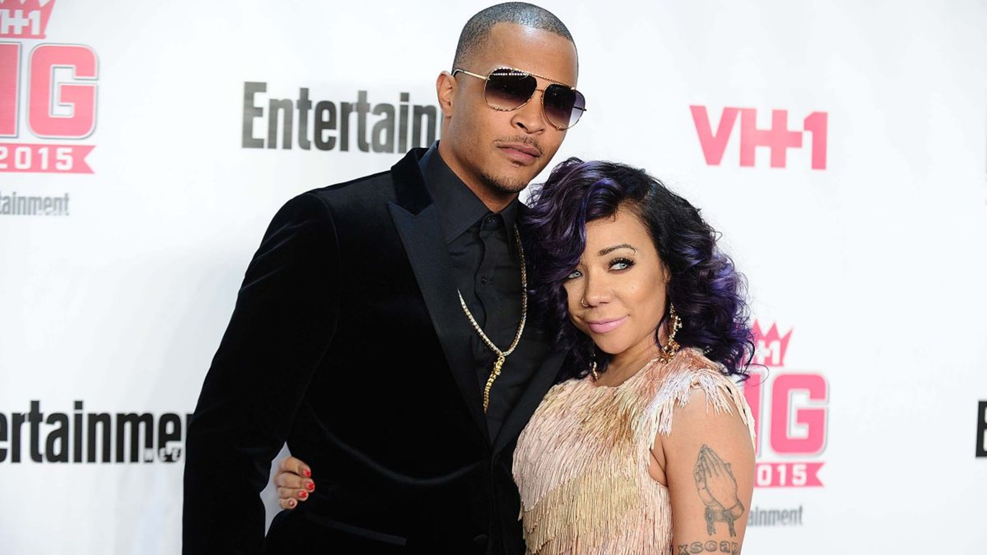 """""""t-i-and-wife-tiny-harris-look-happy-and-are-having-fun-in-new-photos-with-son-king-harris-confirming-that-they-are-unfazed-by-deyjah-harriss-hymen-check-scandal"""""""