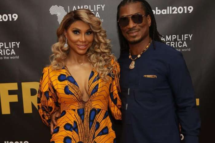 Tamar Braxton Leaves Absolutely Nothing To Boyfriend David Adefeso's Imagination In This Video Where She Is Wearing Lace And Pearls