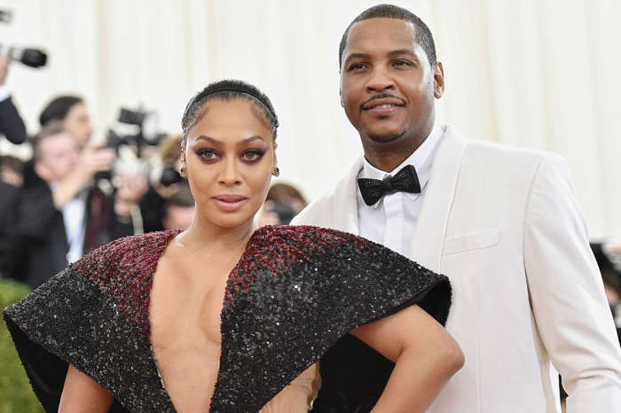 La La And Carmelo Anthony Celebrate Christmas In Matching Pajamas With Their Son After Reuniting
