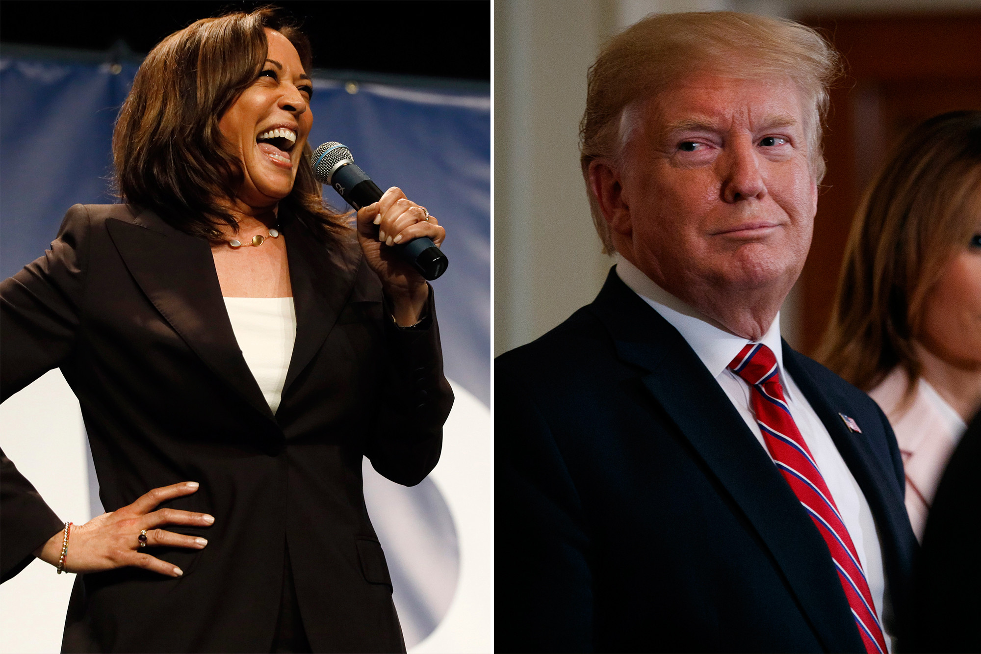 """kamala-harris-claps-back-at-donald-trump-after-seemingly-mocking-her-for-stepping-out-of-the-presidential-race"""