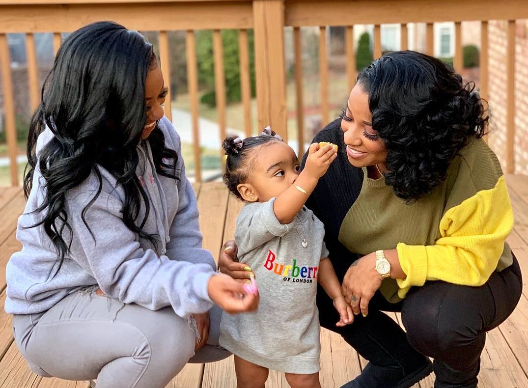 Toya Johnson Is Twinning With Her Baby Girl Reign Rushing In These New Pics