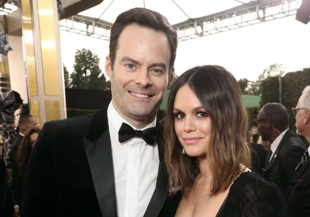 Bill Hader & Rachel Bilson Make Their Red Carpet Debut At Golden Globes