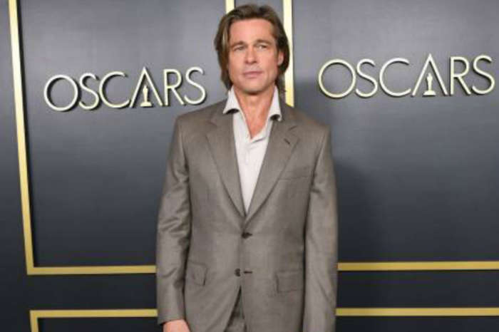 Brad Pitt's Got Jokes! World Famous Actor Wears Name Tag To Oscars Luncheon