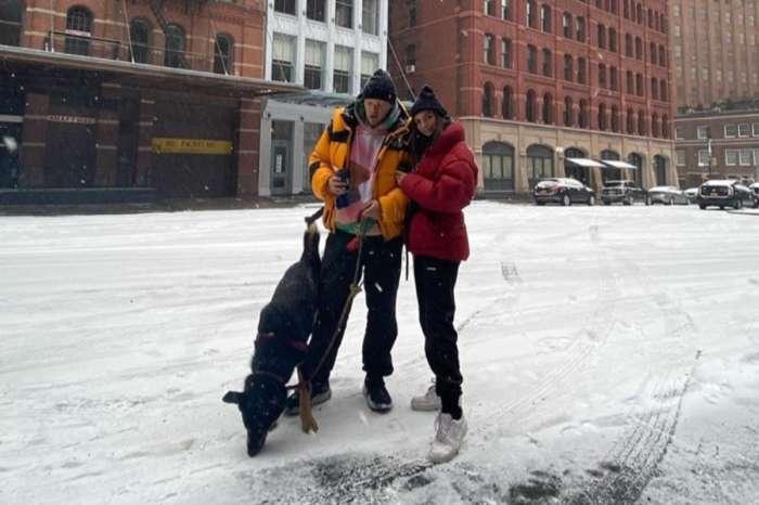 Emily Ratajkowski And Husband Sebastian Bear-McClard Play In The Snow With Colombo