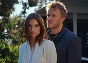 Emily Ratajkowski And Husband Sebastian Bear-McClard Attend L.A. Lakers Game After Attending Critics' Choice Awards