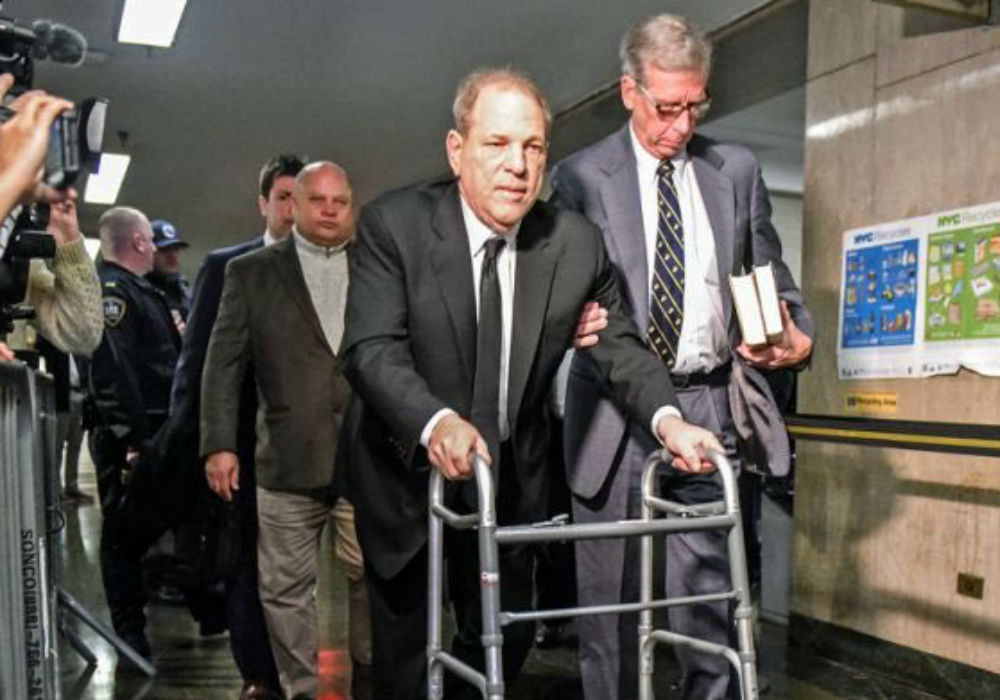 Harvey Weinstein Nearly Thrown In Jail By Judge For Using Two Cell Phones In The Courtroom