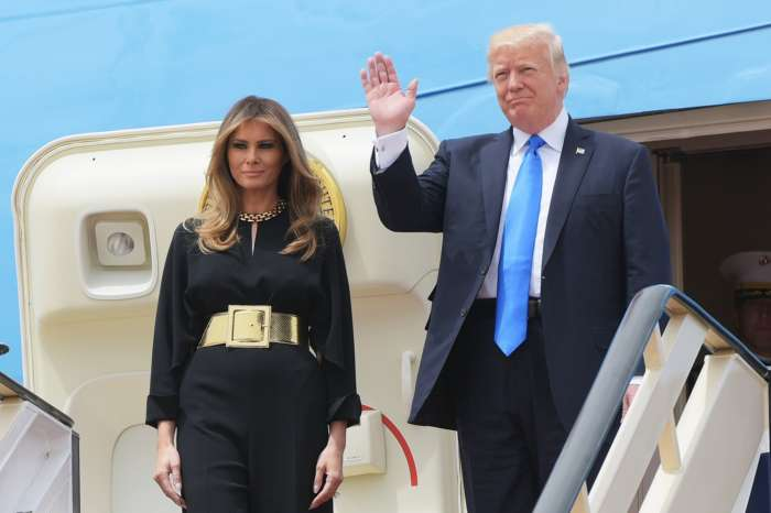 Melania Trump Works Very Hard To Avoid A Wardrobe Malfunction In Odd Video Where Carefree Donald Trump Greets Adoring Fans