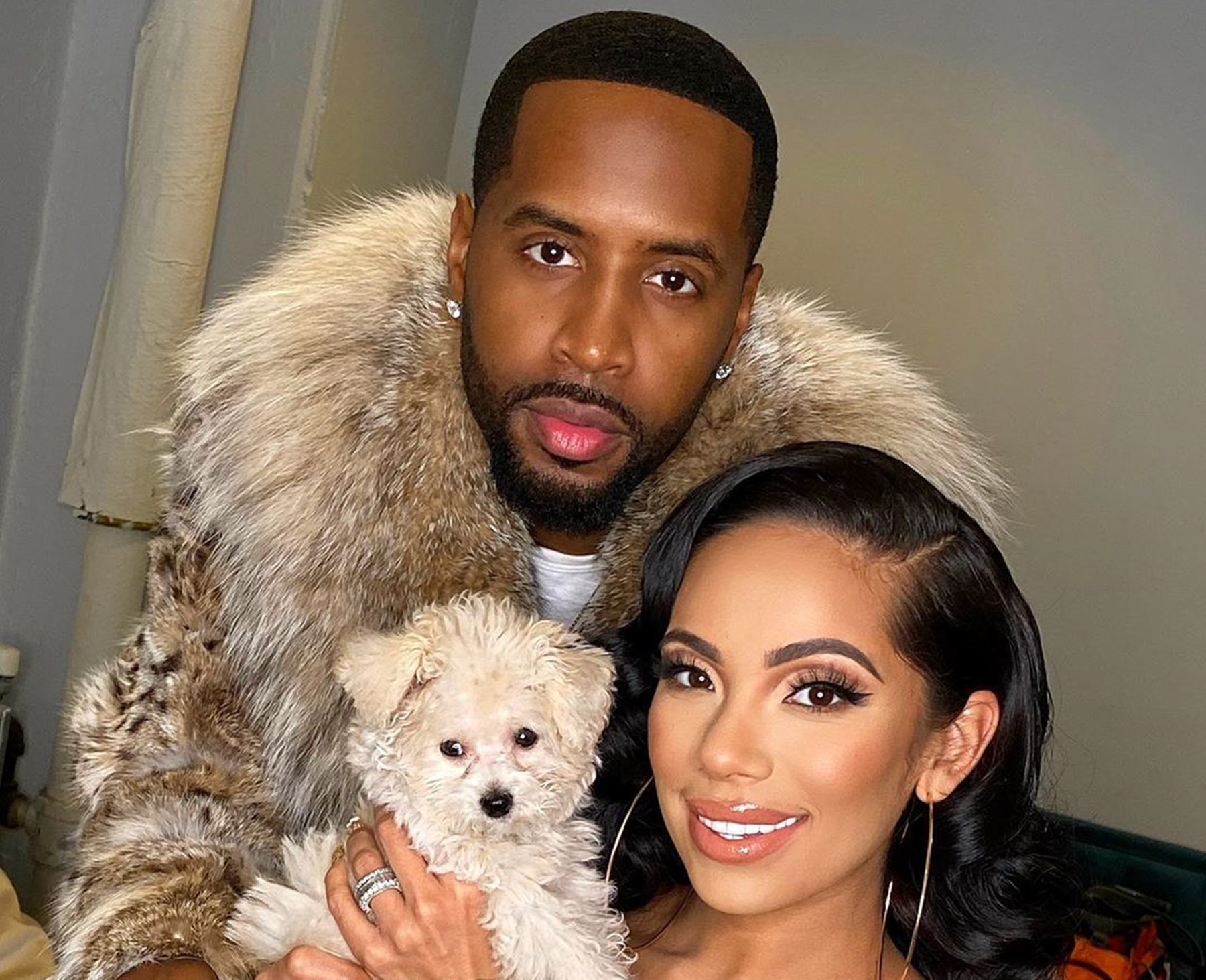 """erica-mena-poses-with-safaree-cradling-her-pregnant-belly-and-fans-are-here-for-it"""