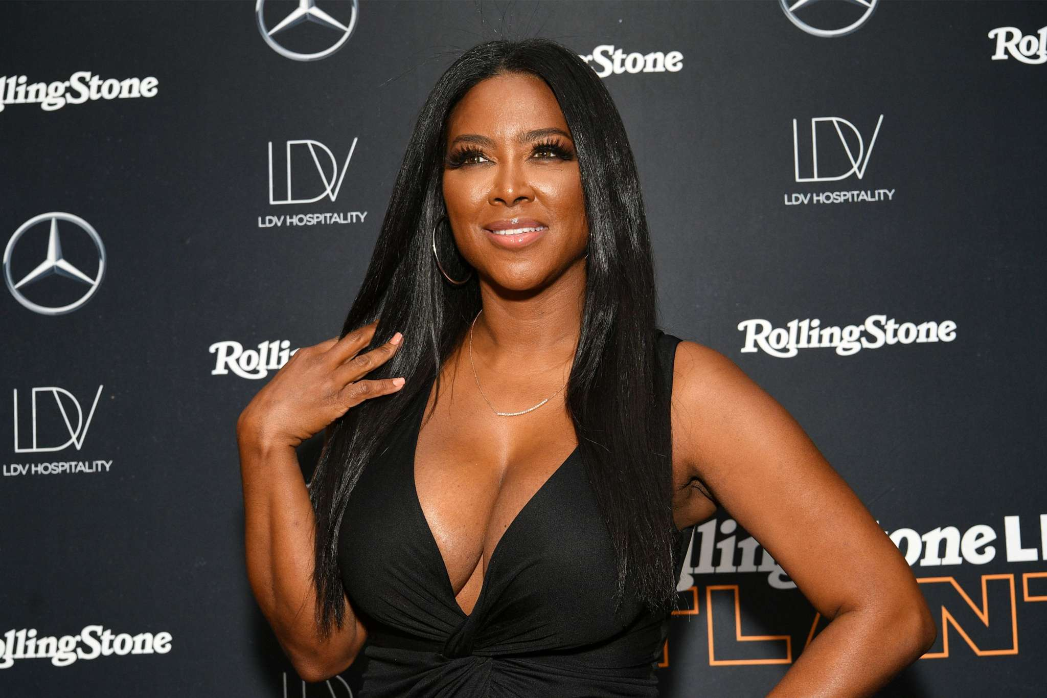 Kenya Moore Poses With Brandon Deshazer For Her Birthday