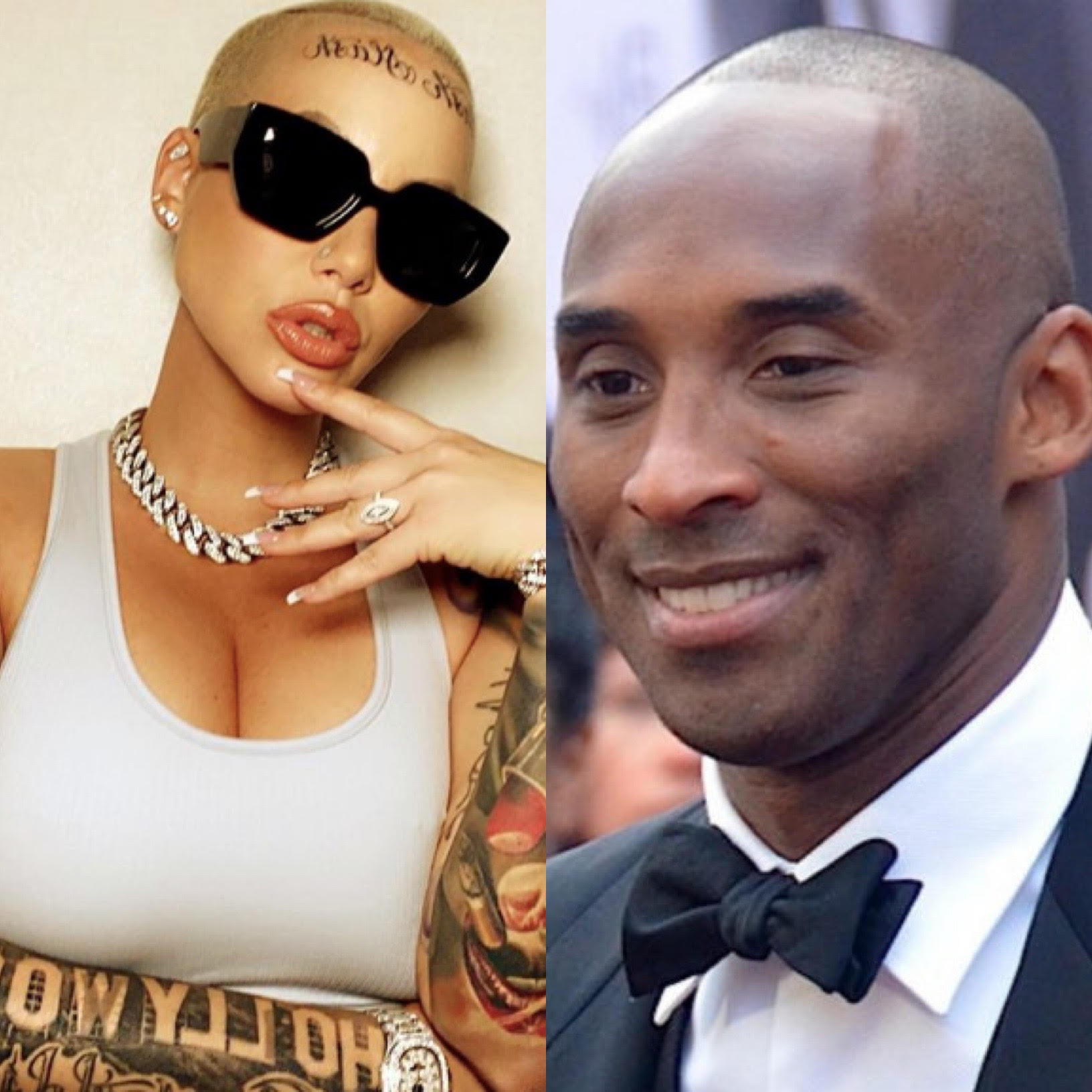 Amber Rose's boyfriend Alexander Edwards gets face tattoo to match hers