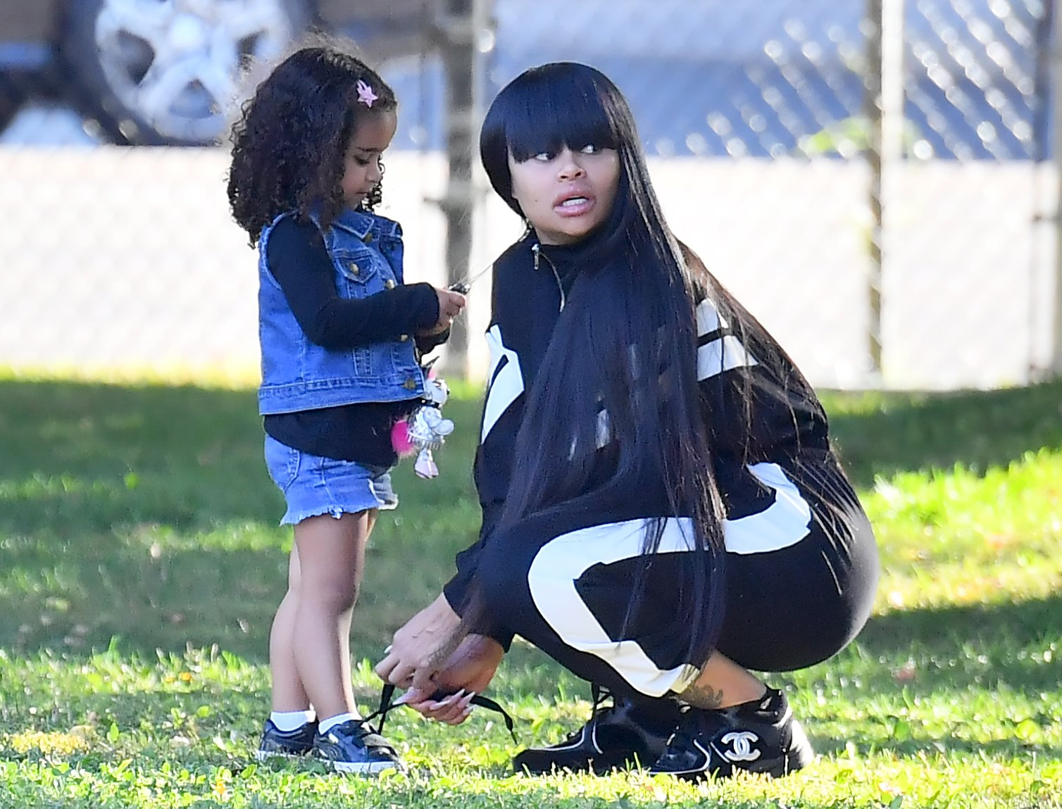 Blac Chyna Shares A Workout Video At Her Home With Dream Kardashian