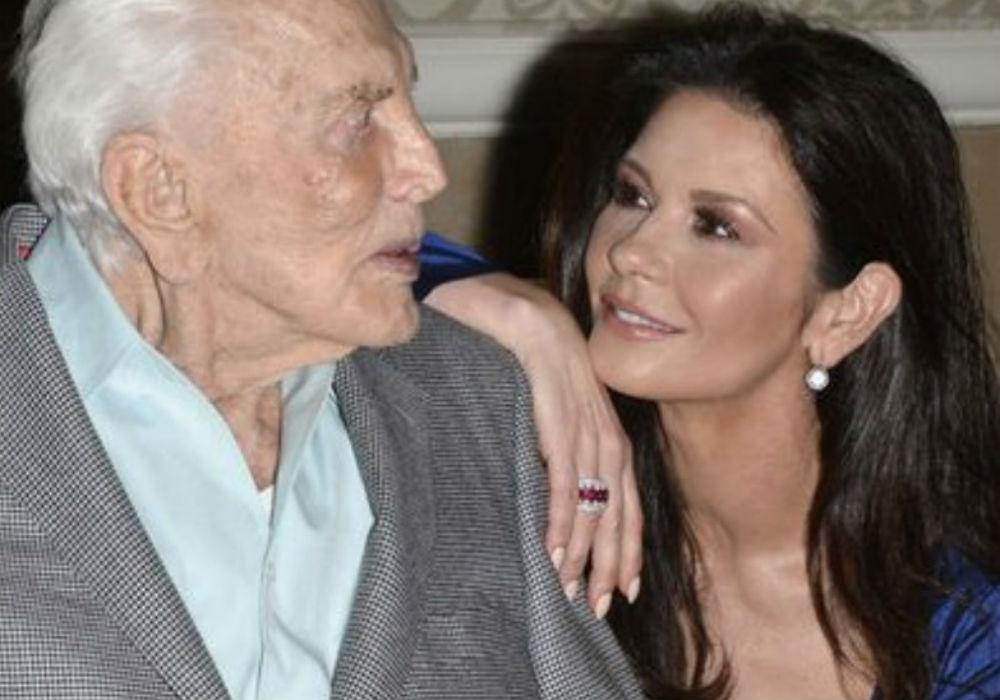 Catherine Zeta-Jones Posts Emotional Tribute To Her Late Father-In-Law, Kirk Douglas