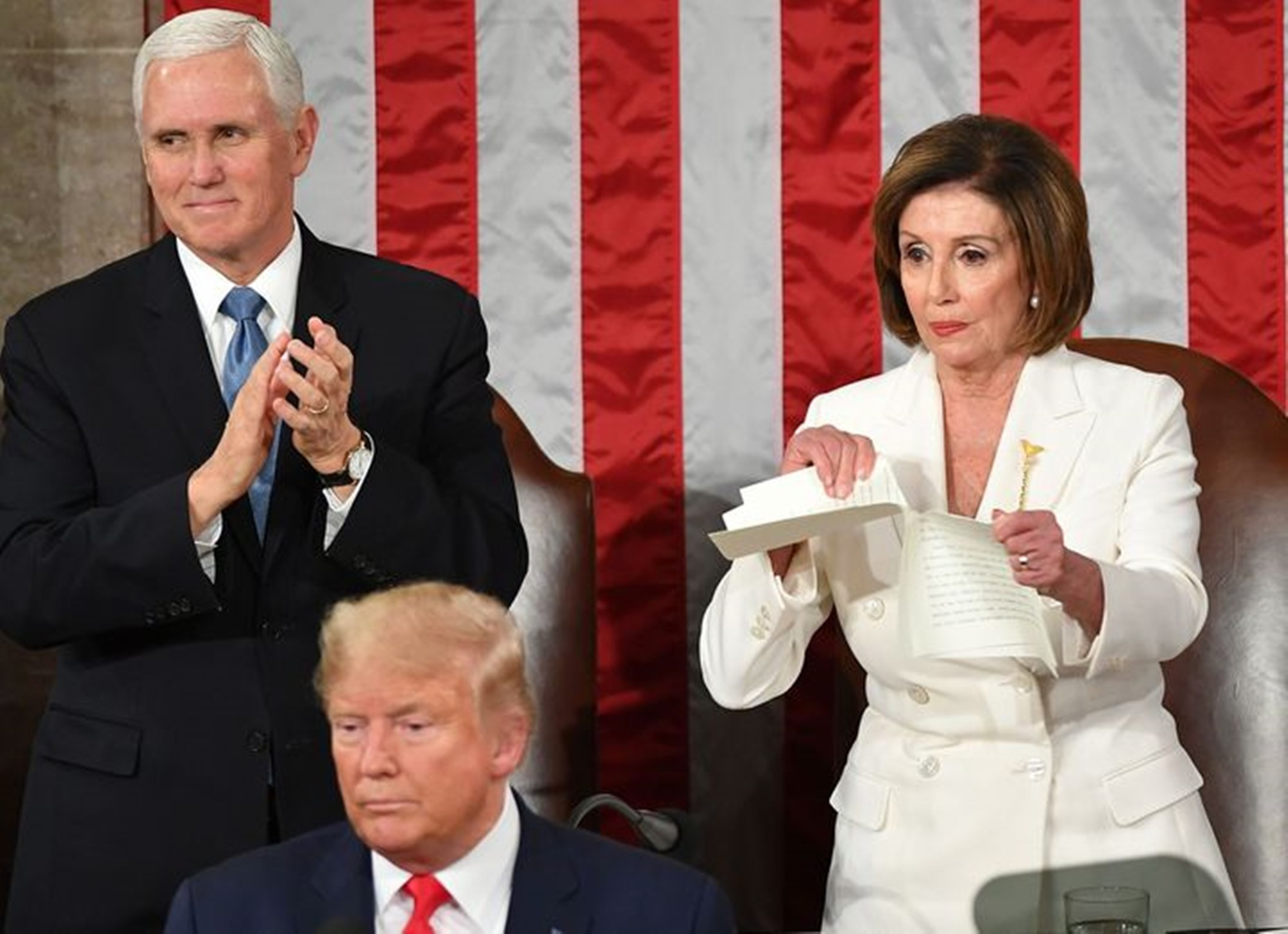 Donald Trump Mike Pence Nancy Pelosi State Of The Union Speech