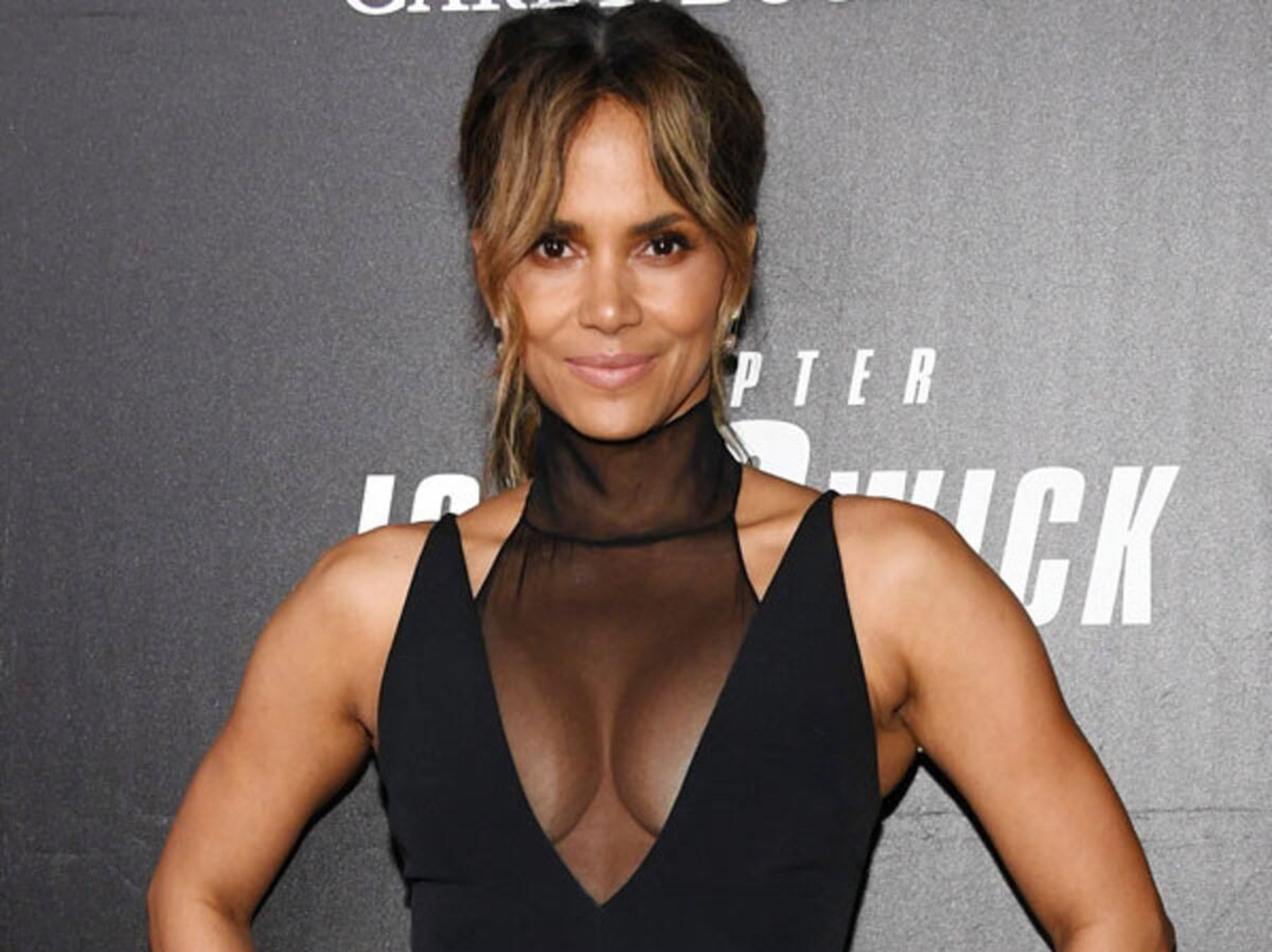 Halle Berry Vacation Yoga Poses