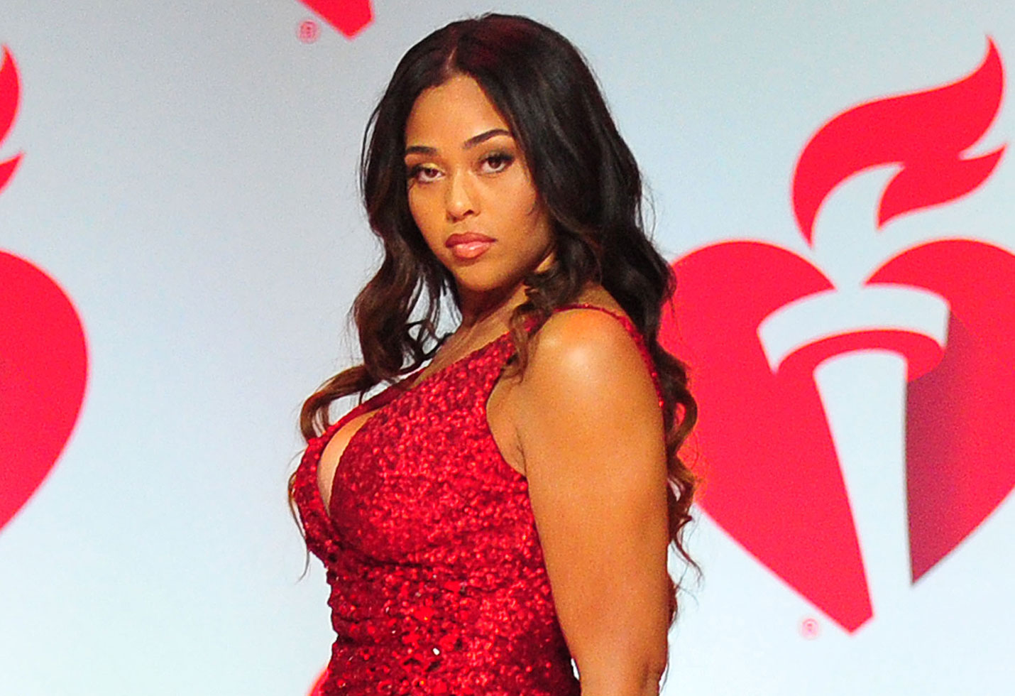 """jordyn-woods-shares-jaw-dropping-pics-in-red-lingerie-ahead-of-valentines-day-megan-thee-stallion-flirts-with-her"""