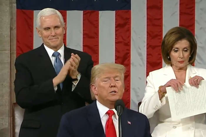 Nancy Pelosi Rips Up Donald Trump's State Of The Union Speech In Viral Video