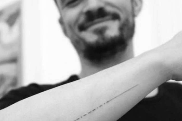 Orlando Bloom Fixes His New Morse Code Tattoo So His Son's Name Is Spelled Correctly - 'Finally Dot It Right'