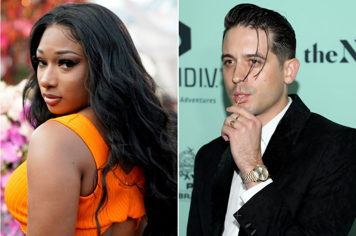 """""""g-eazy-and-unknown-beauty-are-all-over-each-other-at-oscars-party-a-week-after-pda-with-megan-thee-stallion"""""""