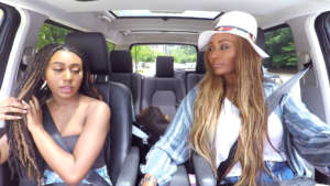 Cynthia Bailey Is Interviewed By Her Daughter, Noelle Robinson In The Backyard
