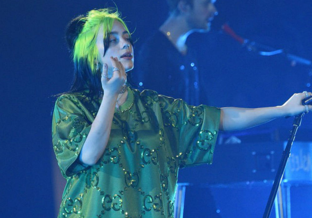 Billie Eilish Takes Off Her Shirt During Concert To Protest Body Shaming