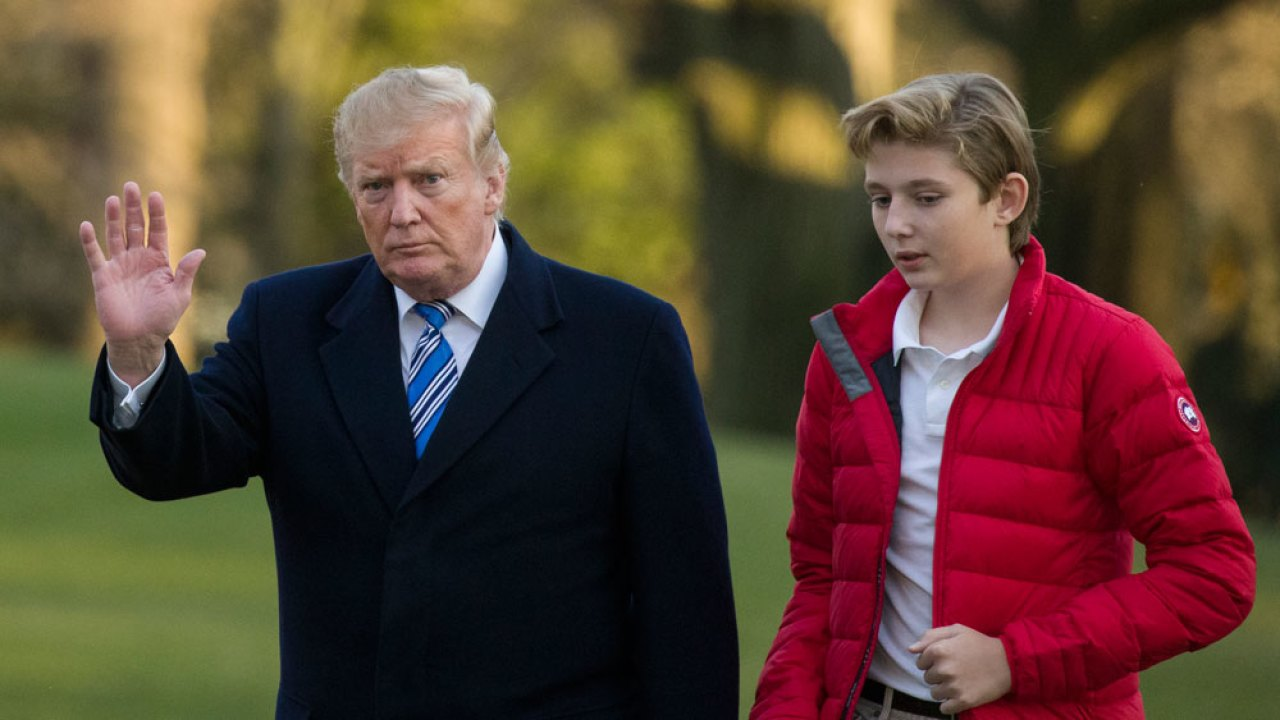 """""""donald-trump-opens-up-about-son-barrons-feelings-on-having-to-study-at-the-white-house-amid-the-quarantine"""""""