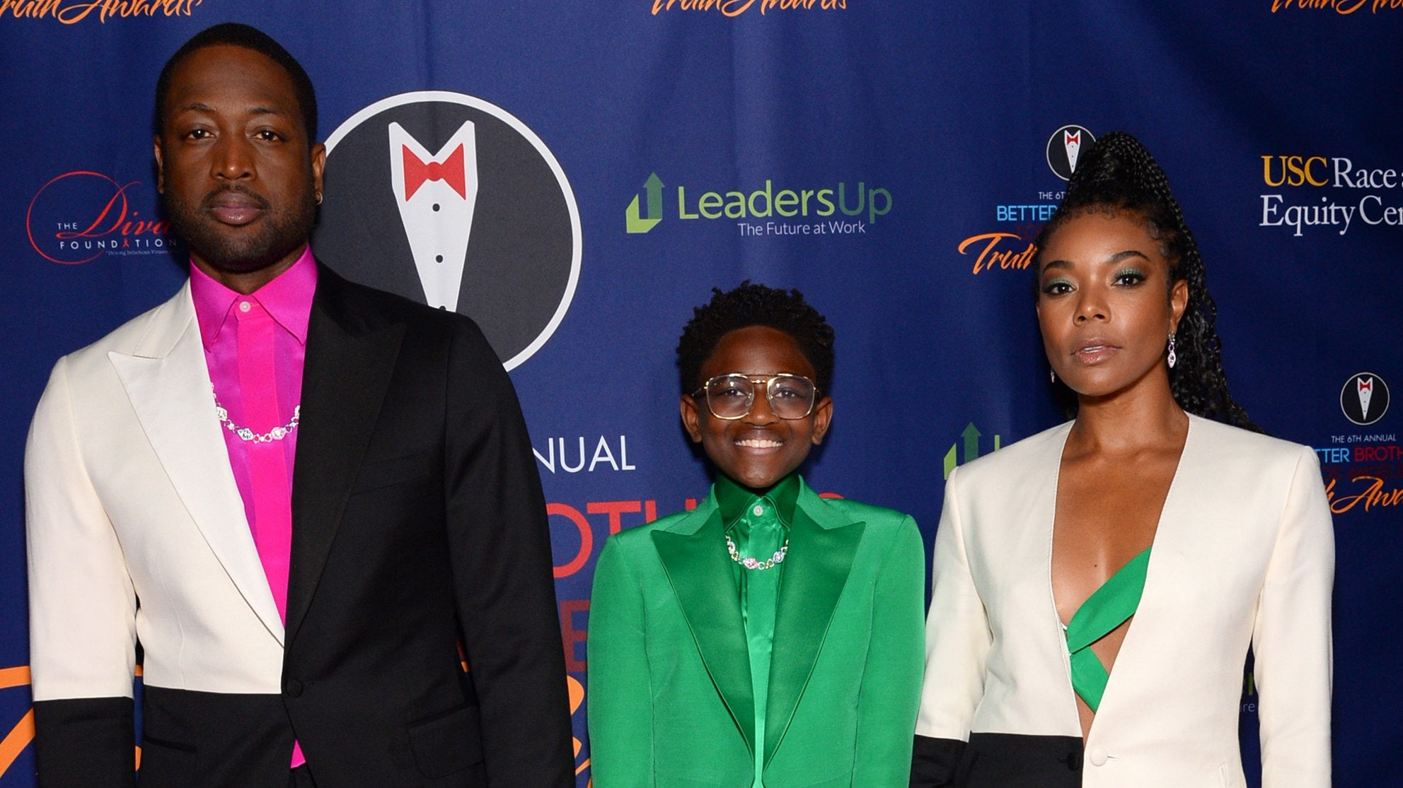 Dwayne Wade And Gabrielle Union Pull Up To The Truth Awards Together With Zaya