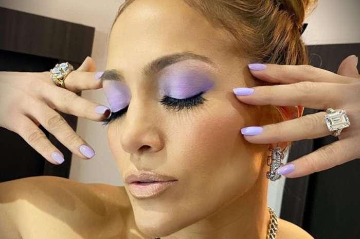 Jennifer Lopez Shows Off Her Lavender Nails By Tom Bachik