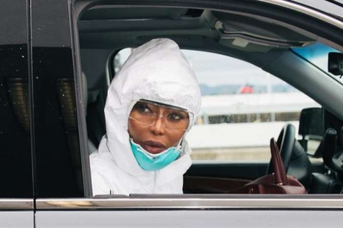 Naomi Campbell Wears Full Hazmat Suit To Airport Due To Coronavirus Threat