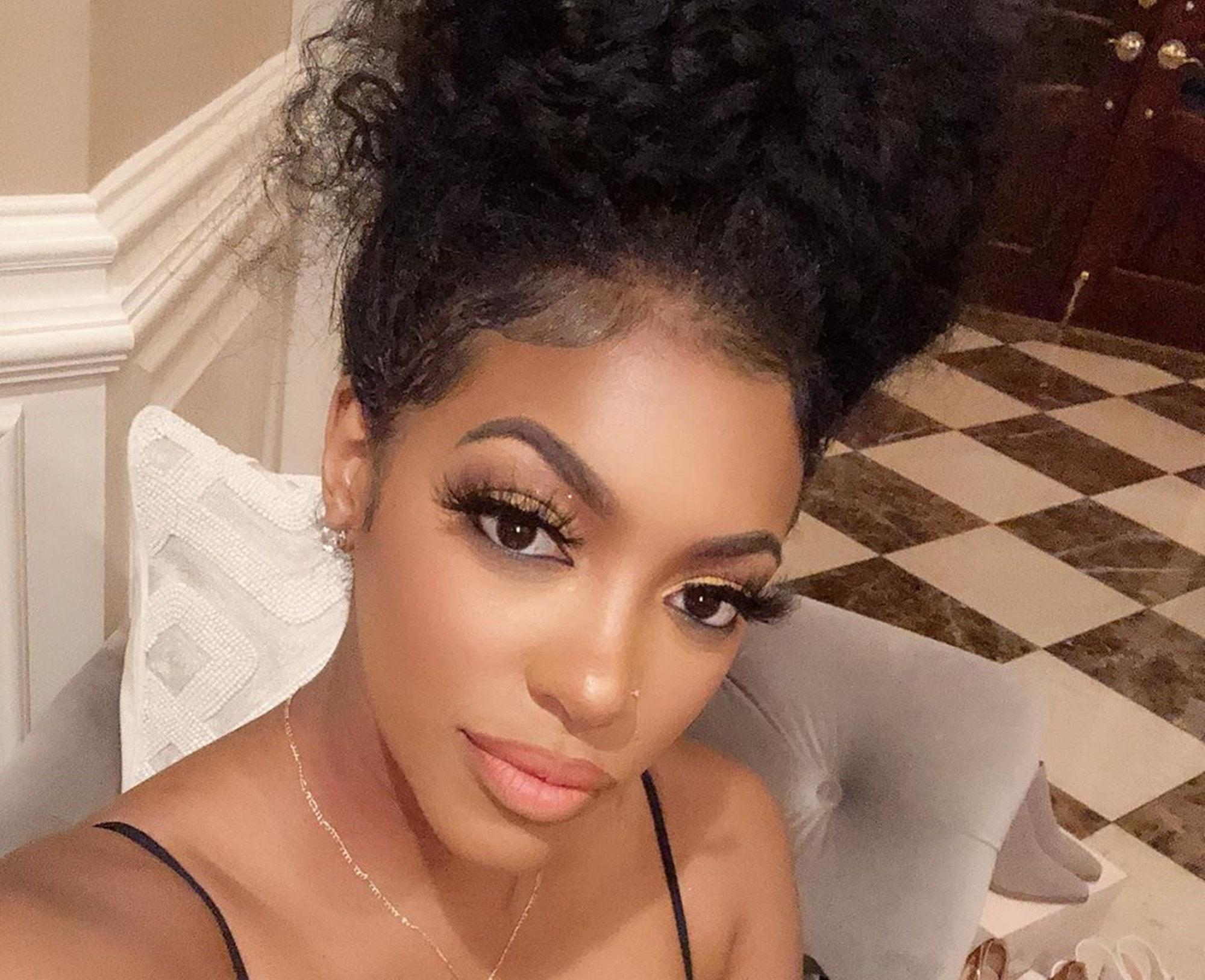 Porsha Williams Records Dish Nation From Home - Check Out Her 'Work From Home Outfit'