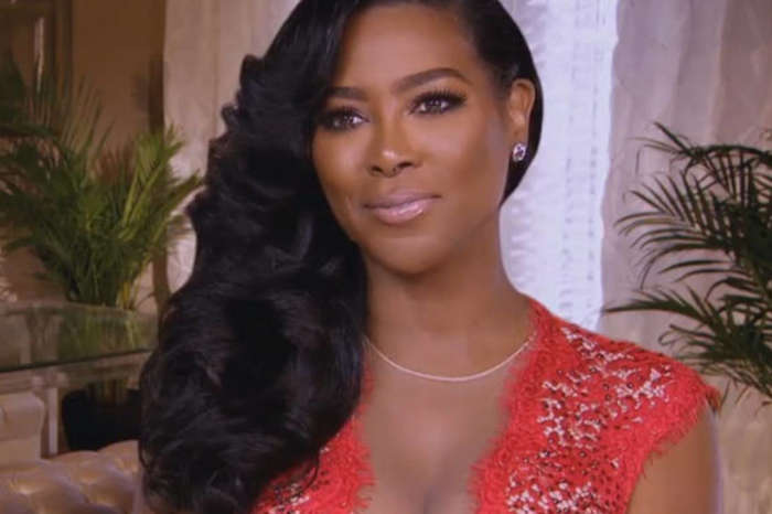 Kenya Moore Is Rocking A Little Black Leather Dress That Shows Off Her Flawless Figure - See The Photos