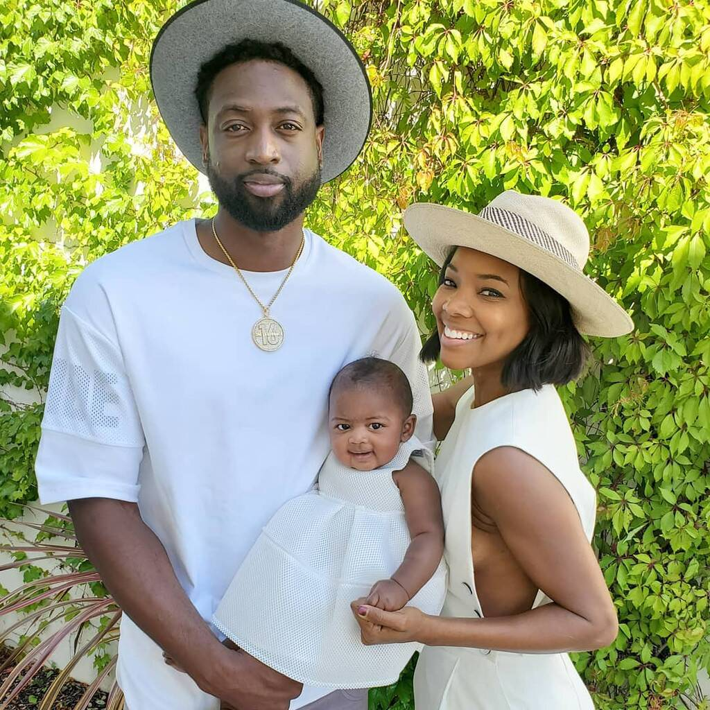 Dwayne Wade's Latest Photo Featuring Kaavia James Has Fans Smiling