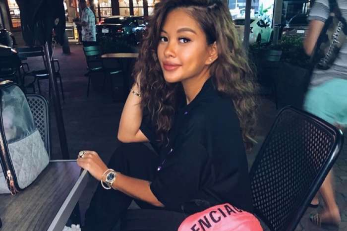 Chris Brown's Baby Mama, Ammika Harris, Poses In A See-Through Black Dress And Fans Adore This Quarantine Fashion Moment