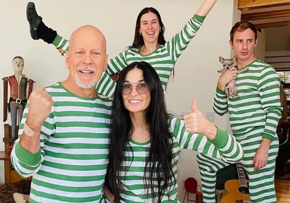 Demi Moore & Bruce Willis Are Self-Isolating Together With Their Kids