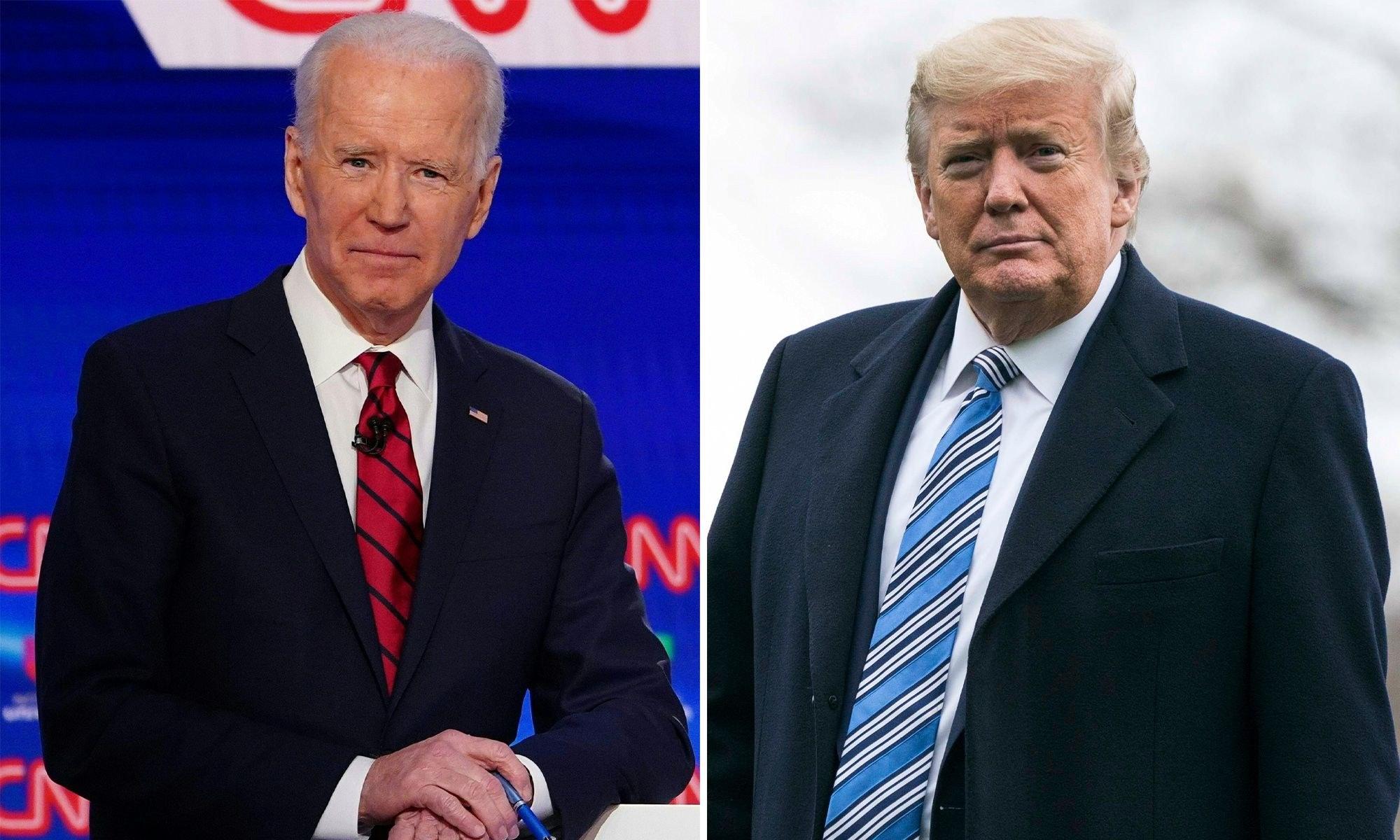 Political rivals Biden, Trump may talk about coronavirus