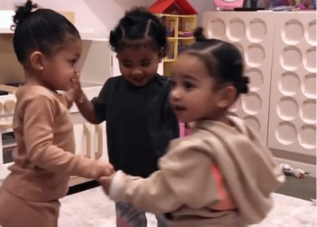 """""""kylie-jenner-shares-adorable-video-of-chicago-west-true-thompson-and-stormi-webster-as-social-distancing-has-her-missing-her-nieces"""""""