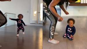 Kenya Moore's Baby Girl, Brooklyn Daly Is Busy With Big Girl Things Around The House - Check Out The Latest Pics