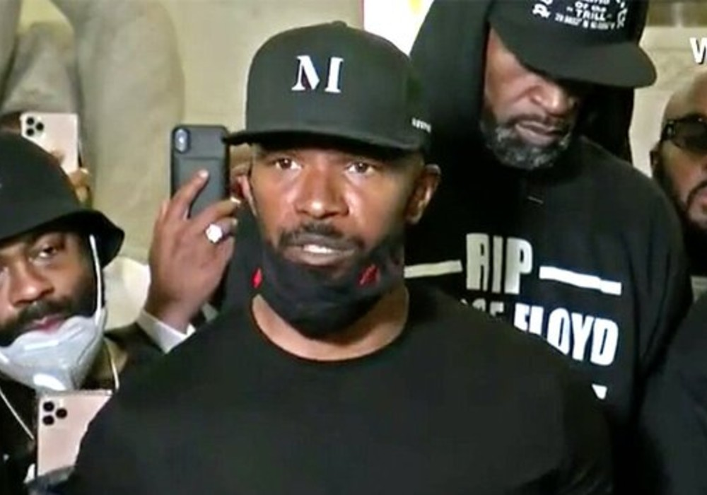 """jamie-foxx-speaks-at-rally-in-minneapolis-for-george-floyd-were-not-afraid-of-the-moment"""