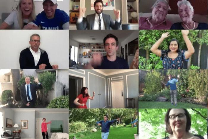 John Krasinski, Jenna Fischer, Steve Carell, Rainn Wilson, And More Of The Office Cast Recreate The Pam And Jim Wedding Dance For Some Good News