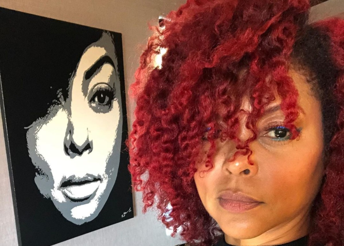 Taraji P Henson Shows Off Ruby Red Hair Color In New Photos As She Launches Tph By Taraji Hair Care Line Celebrity Insider