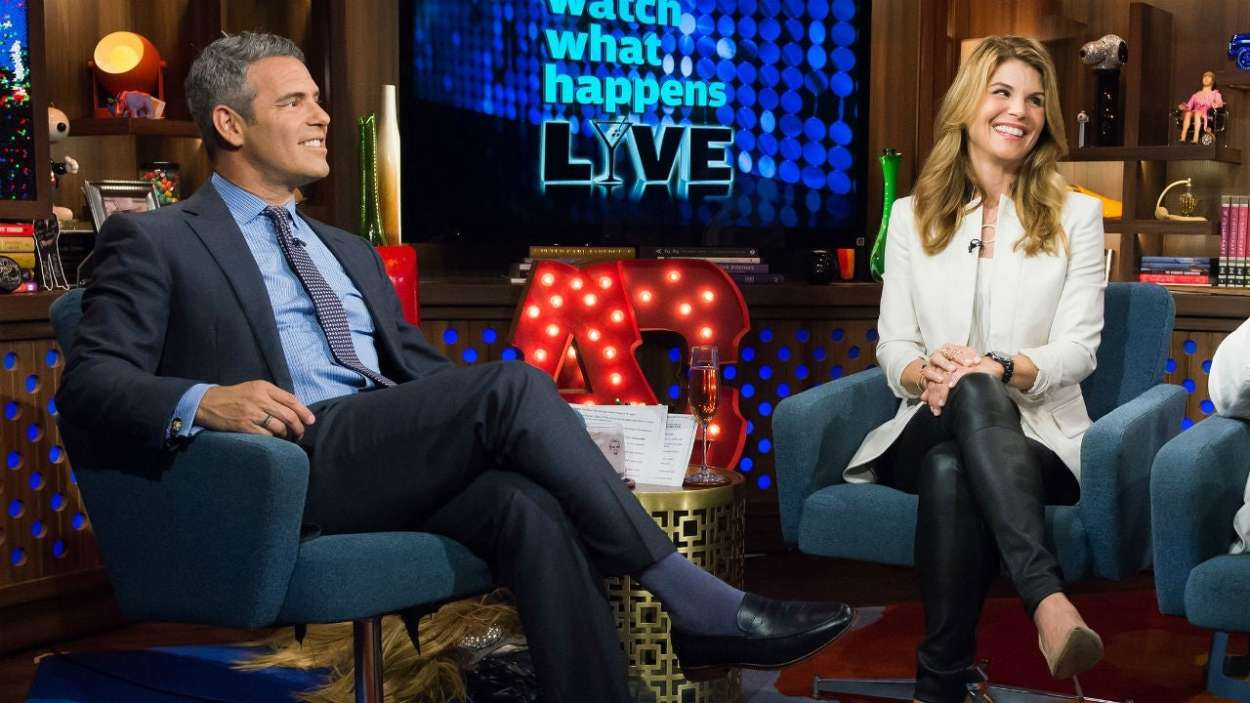 Andy Cohen and Lori Loughlin