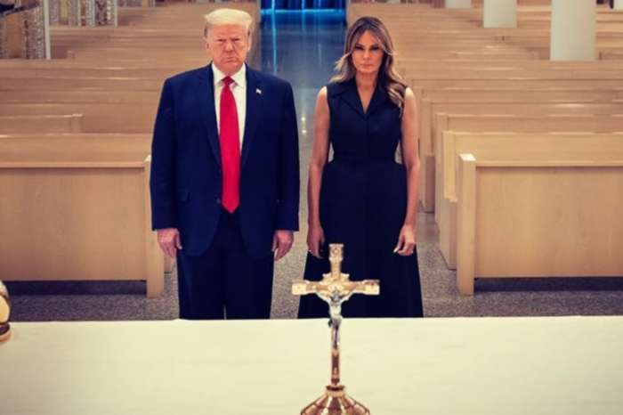 Melania Trump Wore Dior To Honor Saint John Paul II With President Donald Trump